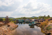 Fishing village on Phu Quoc — Stock Photo