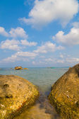 Beach with rocks — Stock Photo