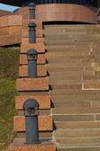 Forjado luzes sobre os passos — Fotografia Stock
