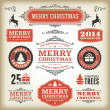 Christmas decoration vector design elements collection — Stockvektor