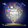 Social media on mobile — Foto Stock