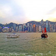 Scenic view point of Victoria bay in Hongkong — Stock Photo