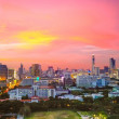Twilight of Bangkok city Thailand — Stock Photo