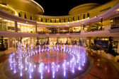 Musical fountain and coloring of lighting at the Promanade department store in Bangkok, Thailand — Stock Photo
