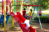 Chidren are playing at the playground — Stock Photo