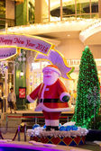 Kerstdecoratie op de Boulevard warenhuis in bangkok, thailand — Stockfoto