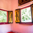 Ancient windows in the Buddhist temple — Stock Photo #37720309