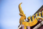 A part of roof of Buddhist temple in Thailand — Stockfoto