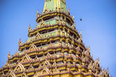 Ancient pagoda on blue sky in temple, Thailand — Foto de Stock