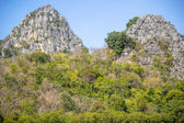 High calcite mountain view near the village in Thailand — Stock Photo