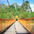 Bridge over song river in Laos — Stock Photo