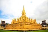 Temple in Vientiane (Thad Luang) — Stockfoto