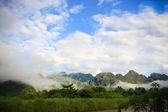Natural scenic view of river at Vang Vieng — Stock Photo