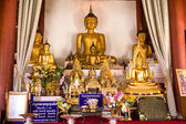 Gold Buddha in the Buddhist temple — 图库照片