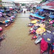 Stock Photo: Floating market, Thailand (Amphawa)