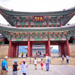 Travel in Seoul, South Korea. Gyeongbokkung Palace. — Stock Photo #38972885