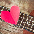 Stock Photo: Guitar lover. Valentine's concept.