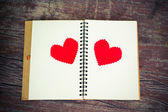 Notebook with heart — ストック写真