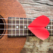 Stock Photo: Retro guitar for lover in Valentine's day.