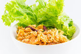 Spicy sour salad with fermented pork — Stock Photo