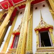 Stock Photo: Pediment of temple, Thailand, This is Buddhist temple