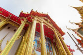The pediment of the temple, Thailand, This is a Buddhist temple — Stock Photo
