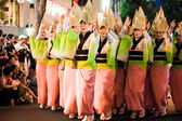 Awa Odori, Japanes dance festival in summer at Kasurazaka in Tokyo — Foto Stock
