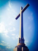 Giant stone cross — Stock Photo