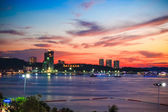 View point of Pattaya City in Twilight time — Stock Photo