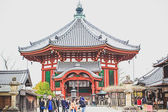 Japanese people are entering to Hasedera temple, the famous temple in Nara, Japan — Stock Photo