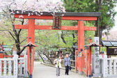 Japanese old people are visiting to Hasedera temple in spring, the famous temple in Nara, Japan — Stock Photo