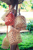 Thai wickers made from bamboo and rattan. — Stock Photo