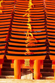 Small praying torii cards at the Fushimi Inari Shrine in Kyoto, Japan — Stock Photo