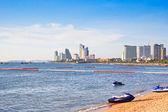 Pohled na pláži pattaya, thajsko. — Stock fotografie