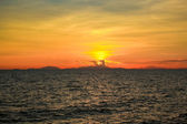 Sunset at the sea of Chantaburi, Thailand. — Stock Photo