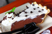 Chocolate pie cake — Foto de Stock