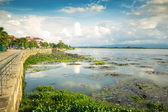 Natural lake at Phayao province in Thailand, Khwan Phayao. — Стоковое фото