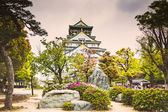 Osaka castle in the cloudy day, Japan — Foto Stock