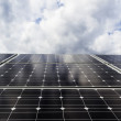 Solar panels view from above below — Stock Photo
