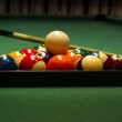 Stock Photo: Arranged billiard balls