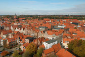 A view to the old town of Lueneburg — Stock Photo