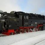 Steam locomotive 99 7238 on mountain Brocken, Saxony-Anhalt, Germany — Stock Photo #36625891