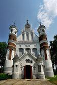 The church-fortress, Murovanka, Grodno region, Belarus — Stock Photo