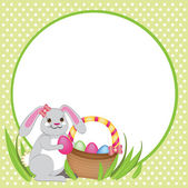 Postcard with Easter Bunny — Stock Vector