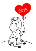 Horse - a symbol of 2014 — Stock Vector