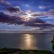 Moon reflecting in the sea in Menorca, Spain — Stock Photo