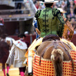 Bullfighters entering the bullring — Stock Photo