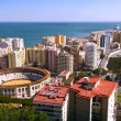 Panoramic view of Malaga city, Spain  — Stock Photo