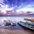 Picture of senegalese boats captured in Senegal — Stock Photo