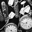 Antique Watches and Knives on Display — Stock Photo #35977533